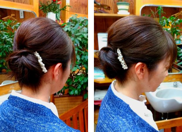 ヘアセット アップスタイル 髪型